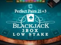 Perfect Pairs 21+3 Blackjack (3 Box) Low Stakes