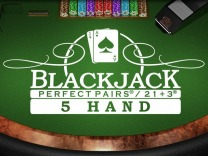 Perfect Pairs 21+3 Blackjack (5 Box)