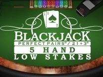 Perfect Pairs 21+3 Blackjack (5 Box) Low Stakes