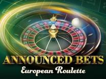 European Roulette. Announced Bets